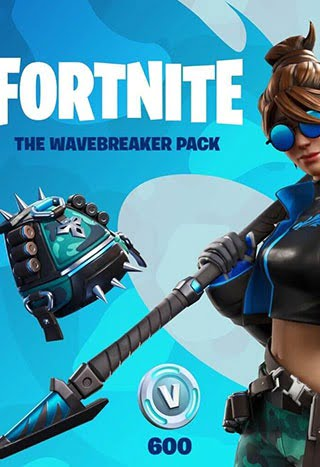 خرید پک  Fortnite – The Wavebreaker + 600 V-Bucks